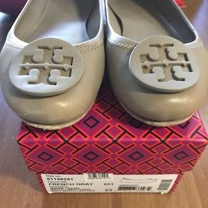 Tory Burch French Grey Flats